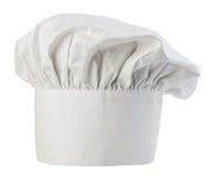 Close-up do chapéu do cozinheiro chefe isolado em um fundo branco Tampão dos cozinheiros Fotografia de Stock Royalty Free