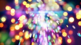 Close-up do chuveirinho e das luzes do Natal Imagem de Stock Royalty Free
