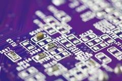 Close-up do circuito eletrônico Fotografia de Stock