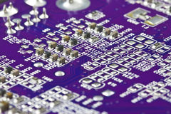 Close-up do circuito eletrônico Fotos de Stock