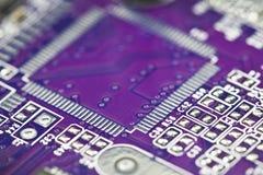 Close-up do circuito eletrônico Foto de Stock