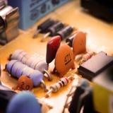 Close-up do circuito eletrônico Fotos de Stock Royalty Free