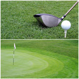 Close-up do clube de golfe Foto de Stock