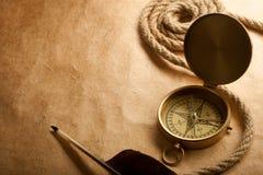 Close-up do compasso Fotografia de Stock Royalty Free