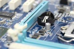 Close-up do componente do cartão-matriz do computador Fotos de Stock Royalty Free
