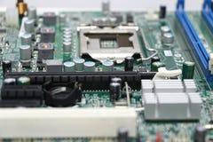 Close-up do componente do cartão-matriz do computador Fotos de Stock