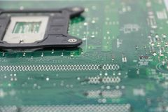 Close-up do componente do cartão-matriz do computador Imagem de Stock Royalty Free