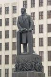 Close up do comunism de lenin da estátua fotografia de stock