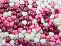 Close up do coração dos doces do amor Fotos de Stock Royalty Free