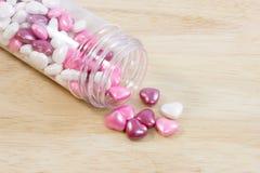 Close up do coração dos doces do amor Fotografia de Stock