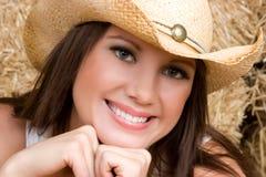 Close up do Cowgirl foto de stock