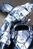 Close up do cromo da motocicleta fotografia de stock royalty free