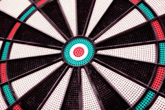 Close up do Dartboard Imagem de Stock