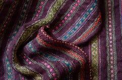 Close-up do de lã homespun enrugado Imagens de Stock Royalty Free