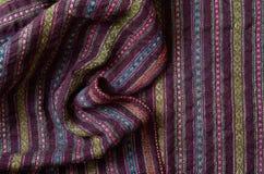 Close-up do de lã homespun enrugado Imagem de Stock Royalty Free
