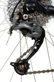 Close up do derailleur traseiro de MTB Foto de Stock
