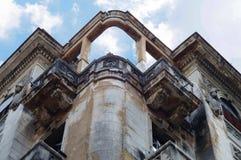 Close up do detalhe da arquitetura de um edifício velho Imagem de Stock Royalty Free