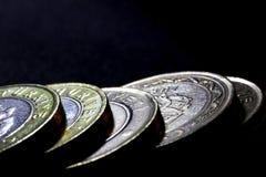 Close-up do dinheiro das moedas fotos de stock royalty free