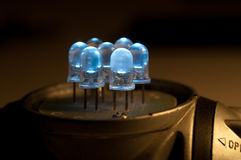 Close up do diodo emissor de luz Imagens de Stock