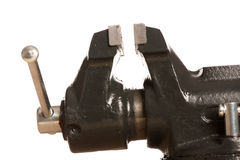 Close up do dispositivo de aperto vice da ferramenta no fundo branco Fotos de Stock Royalty Free