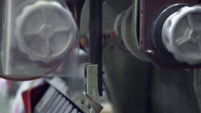 Close up do equipamento da tipografia vídeos de arquivo