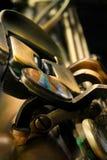 Close up do estúdio do saxofone Foto de Stock
