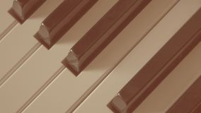 Close-up do estilo retro velho do instrumento musical das chaves do piano imagens de stock