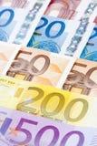 CLOSE UP DO EURO - CÉDULAS DA UNIÃO EUROPEIA Foto de Stock Royalty Free