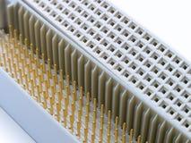 Close-up do extremo dos conectores imagens de stock royalty free
