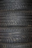 Close-up do fundo do pneu de carro Imagens de Stock