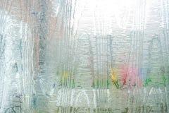 Close up do fundo vítreo do teste padrão da textura da janela fotografia de stock