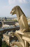Close-up do gargoyle no Notre-Dame de Paris fotografia de stock