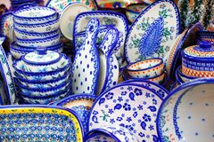 Close-up do grupo dos pratos imagens de stock royalty free