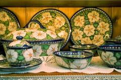 Close-up do grupo dos pratos imagens de stock