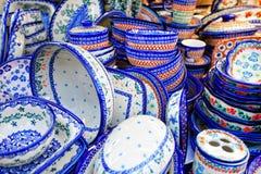 Close-up do grupo dos pratos foto de stock