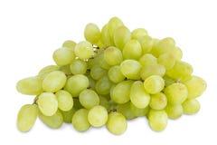 Close up do grupo grande de uvas de tabela verde frescas Fotos de Stock Royalty Free