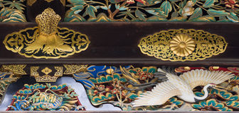 Close up do guindaste na porta de Kara-segunda-feira do castelo de Nijo Fotos de Stock Royalty Free