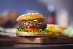 Close up do Hamburger Foto de Stock