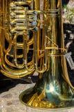 Close up do instrumento de vento fotos de stock