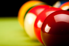 Close up do jogo de Billard! Fotografia de Stock Royalty Free