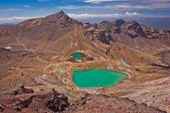 Close-up do lago esmeralda em Tongariro NP em Nova Zelândia fotos de stock royalty free