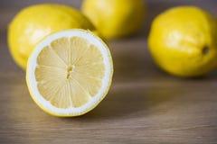 Close-up do limão cortado Imagem de Stock Royalty Free