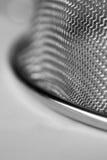 Close-up do macro da peneira da cozinha fotos de stock