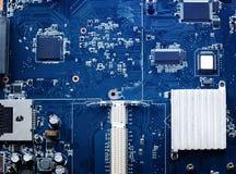 Close up do mainboard dos microprocessadores dos componentes de computador da eletrônica imagens de stock