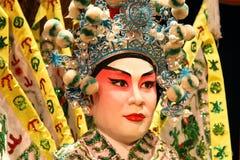 Close-up do manequim da ópera do Cantonese. Fotos de Stock Royalty Free