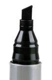 Close up do marcador da ponta de feltro do preto isolado em um branco Fotografia de Stock