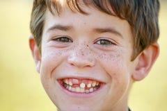 Close-up do menino fotografia de stock