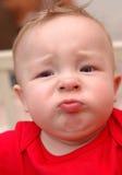 Close up do menino caucasiano infeliz Imagens de Stock Royalty Free