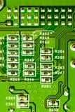 Close-up do micro circuito Fotos de Stock
