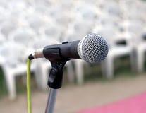 Close up do microfone Imagens de Stock Royalty Free